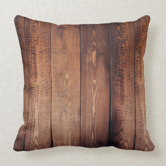 Rustic Wood-Look Pillow