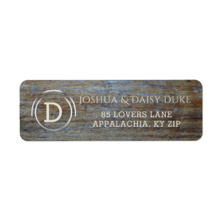 Rustic Wood Monogrammed   Country Wedding Labels