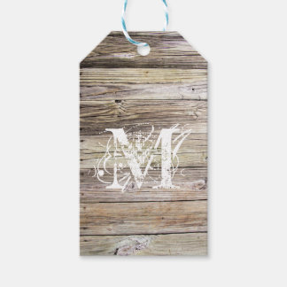 Rustic Wood Monogrammed Gift Tags