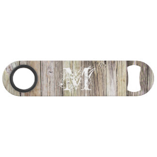 Rustic Wood Monogrammed Speed Bottle Opener
