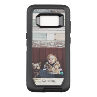 Rustic Wood + Photo OtterBox Defender Samsung Galaxy S8 Case
