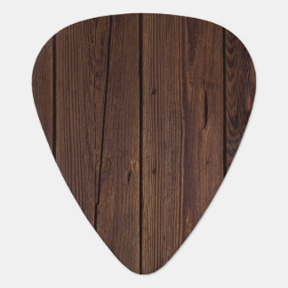 Rustic Wood Plank Guitar Pick
