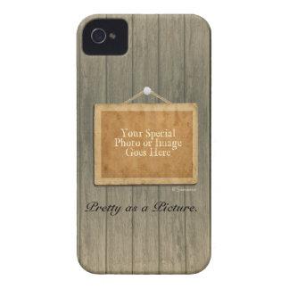 Rustic Wood Pretty as a Picture Case-Mate iPhone 4 Case