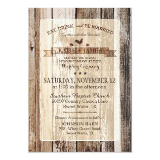 Rustic Wood Rooster Weather Vane Wedding 13 Cm X 18 Cm Invitation Card