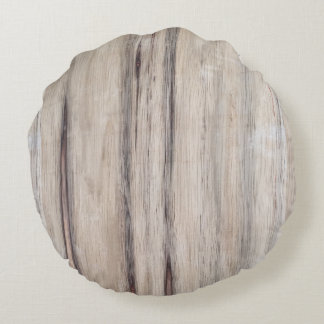 Rustic Wood Round Cushion
