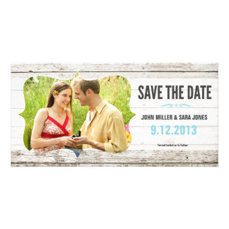 Rustic Wood Save The Date Photo Card