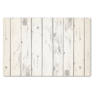Rustic Wood Shabby Chic Weathered Barn Boards Tissue Paper