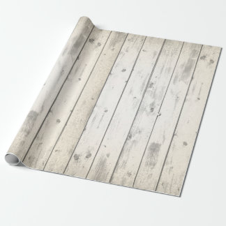 Rustic Wood Shabby Chic Weathered Barn Boards Wrapping Paper