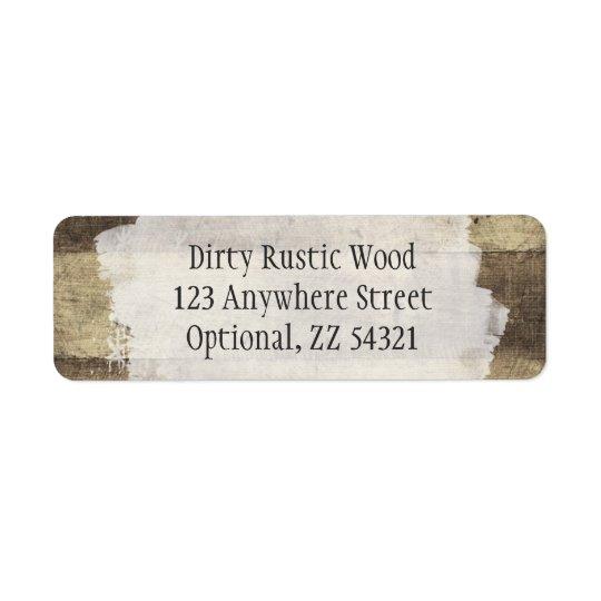 Rustic Wood Shabby Grunge Vintage Painted Boards Return Address Label