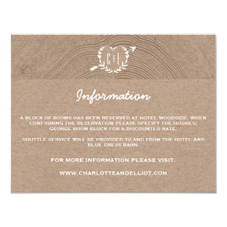 Rustic Wood Slice | Information Card