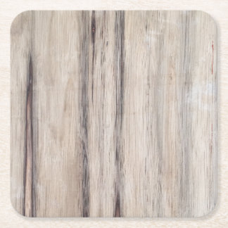Rustic Wood Square Paper Coaster