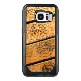 "Rustic Wood Stripes Stamped with ""Made in USA"" OtterBox Samsung Galaxy S7 Edge Case"