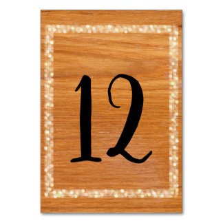 Rustic Wood Table Cards