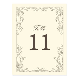 Rustic Wood Table Number Postcard