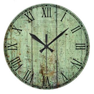 Rustic Wood Texture Clocks