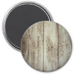 Rustic Wood Texture Refrigerator Magnet