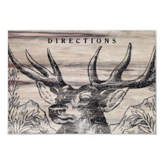 Rustic Wood Wedding Insert Card 9 Cm X 13 Cm Invitation Card