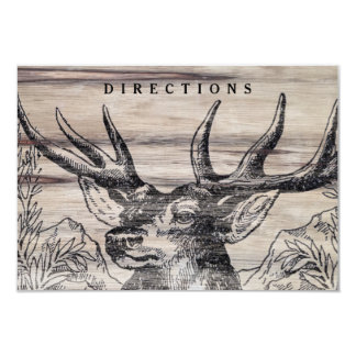 "Rustic Wood Wedding Insert Card 3.5"" X 5"" Invitation Card"