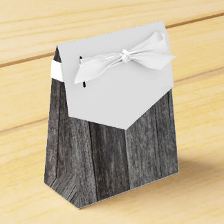 Rustic Wood Wedding Party Favor Box