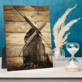 rustic wood western windmill Barn wedding Display Plaques