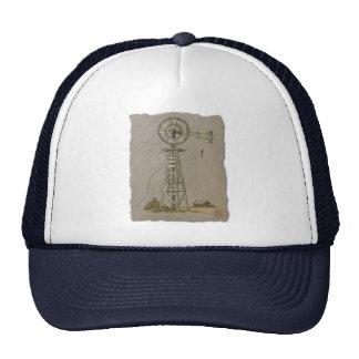 Rustic Wood Windmill Mesh Hat