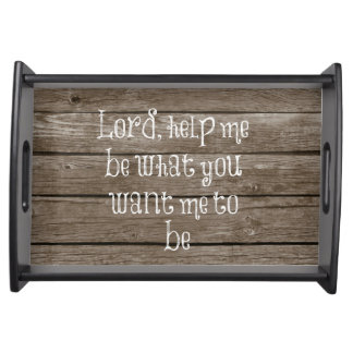 Rustic Wood with Christian Quote Serving Tray