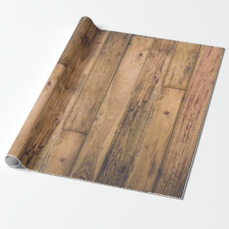 Rustic Wood Wooden Farmhouse Planks Barn Wrapping Paper
