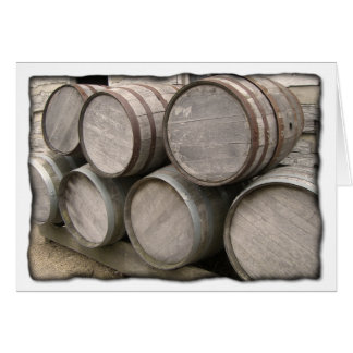 Rustic Wooden Barrels Card