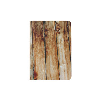 Rustic Wooden Fence Boards Passport Holder