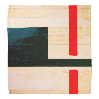 Rustic Wooden Floor Lines and Markings Bandana