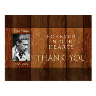 Rustic Wooden Frame Sympathy Thank You Postcard