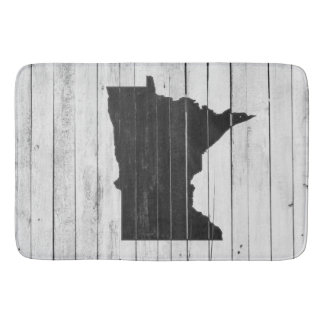 Rustic Wooden Minnesota Black and White Mat