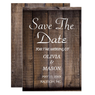 Rustic Wooden Pallet Wedding- Save the Date Card