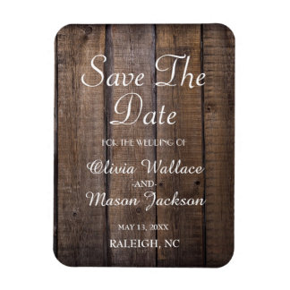 Rustic Wooden Pallet Wedding- Save the Date Rectangular Photo Magnet