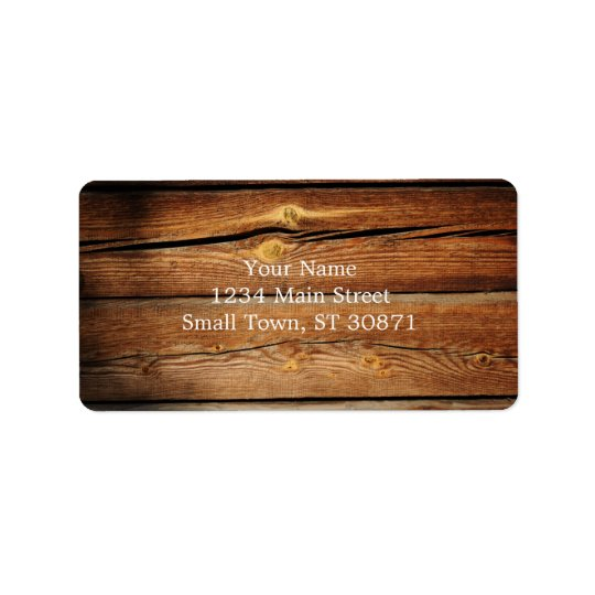 Rustic Wooden Planks  Wood Board Country Gifts Address Label