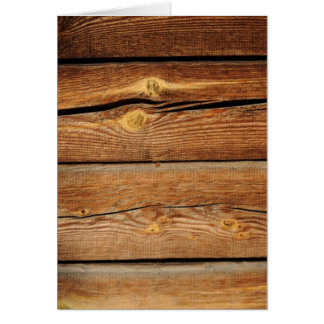 Rustic Wooden Planks  Wood Board Country Gifts Card