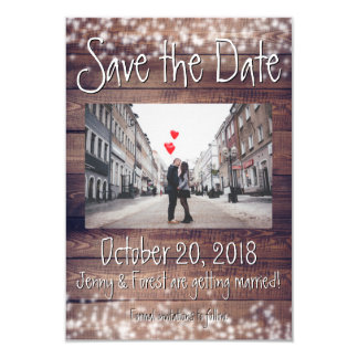 Rustic Wooden Save the Date! Card