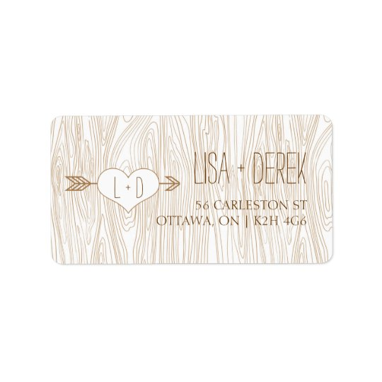 Rustic Woodgrain Wedding labels