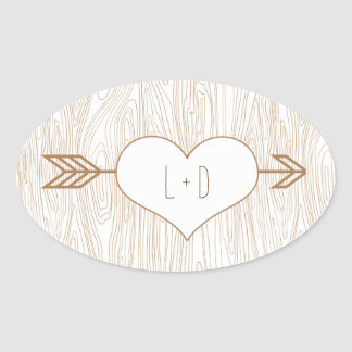 Rustic Woodgrain Wedding Sticker