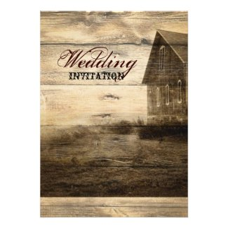rustic woodgrain western farmhouse countrywedding announcements