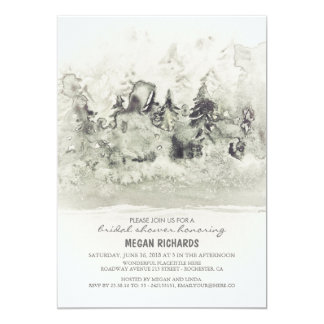 Rustic Woodland Bridal Shower Watercolor 13 Cm X 18 Cm Invitation Card
