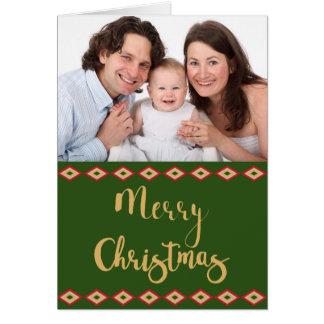 Rustic Woodland Christmas Custom Holiday Photo Card