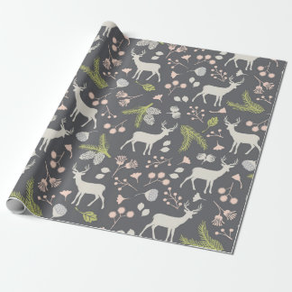 Rustic Woodland Deer Wrapping Paper
