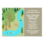 Rustic Woodland Nature Birthday Party 11 Cm X 16 Cm Invitation Card