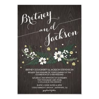 Rustic Woodland Wildflower Wedding Invitations