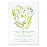 Rustic Woodland Wreath Heart Rehearsal Dinner 13 Cm X 18 Cm Invitation Card