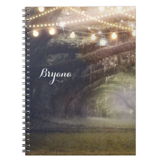Rustic Woods Enchanted Forest & Lights Spiral Notebook