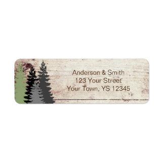 Rustic Woods Evergreen Pine Return Address Label