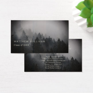 Rustic Woodsy Graduation Insert Name Cards