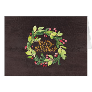 Rustic Wreath Christmas Card